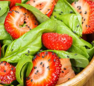 Insalata spinaci e fragola