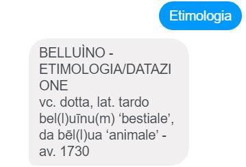 chatbot Zingarelli 6