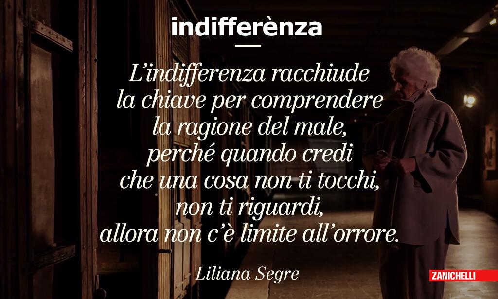 definizione d'autore di indifferenza, Liliana Segre